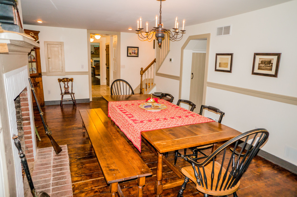 7 Lancaster Farm Formal Dining Room With Fireplace